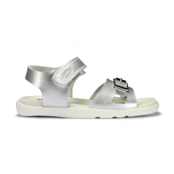 Bobux Girls Silver Simple Sandal 830803