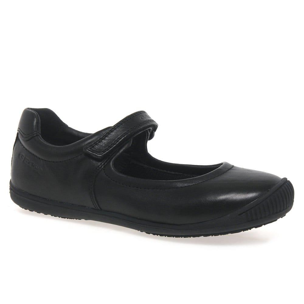 Quagga Crítica Registro  Geox Girls Black Leather J Gioia A School Shoes J54D2A/J643CA: UK 9 Child -  £45.00 - A great selection of from Stampede Shoes
