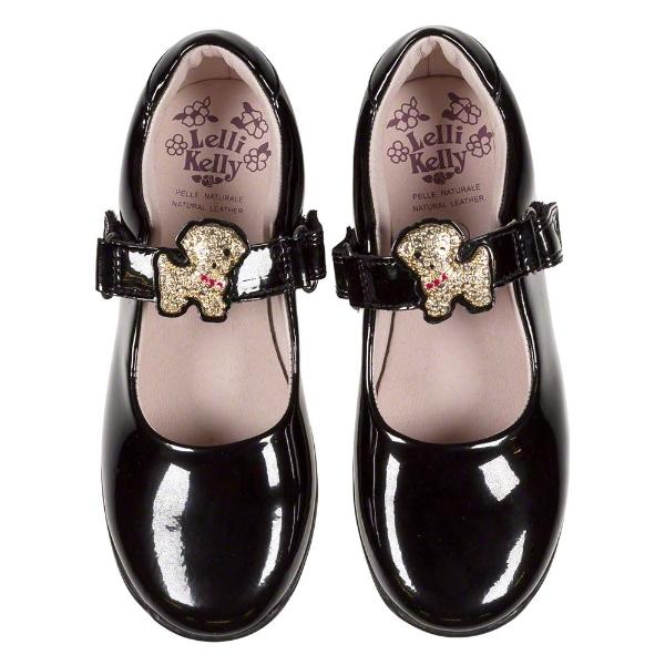 Girls Poppy 2 Dolly Black Patent Shoe