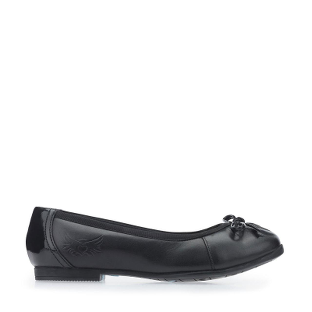 Ballerina Black Leather School Shoes