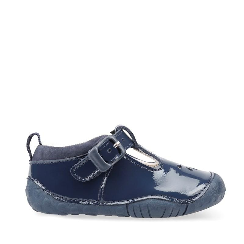 Girls Baby Bubble Navy Patent Pre