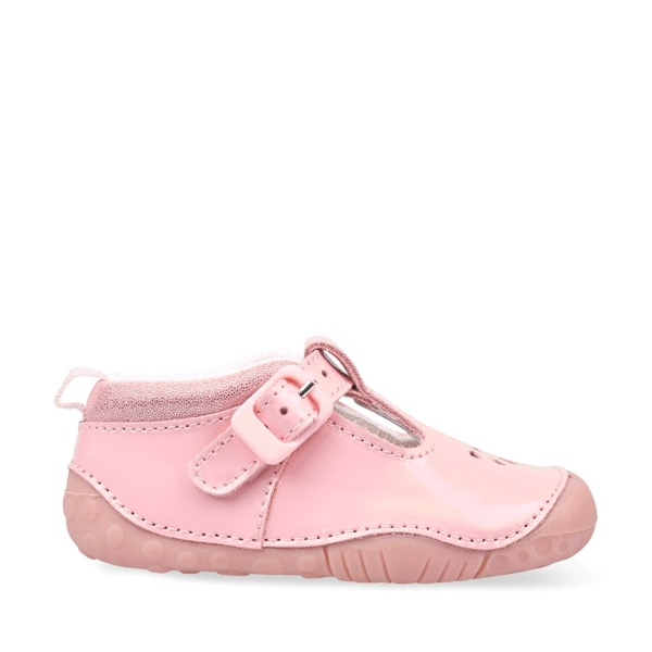 Girls Baby Bubble Pink Patent Pre