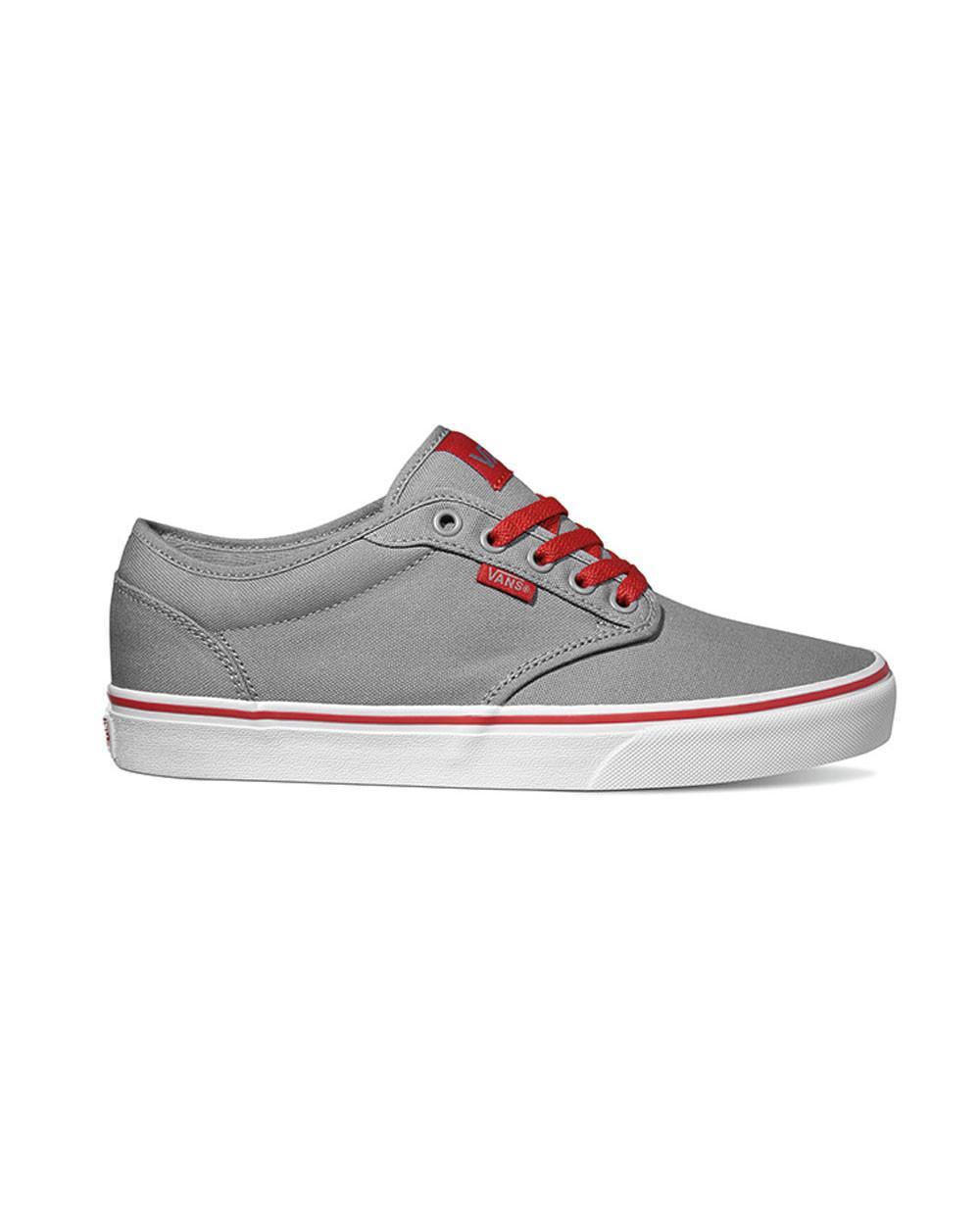 low top vans grey